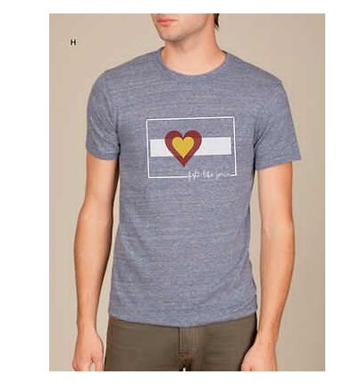 Tees - Big Colorado Love Fight Like Jenn Men's: Eco Navy