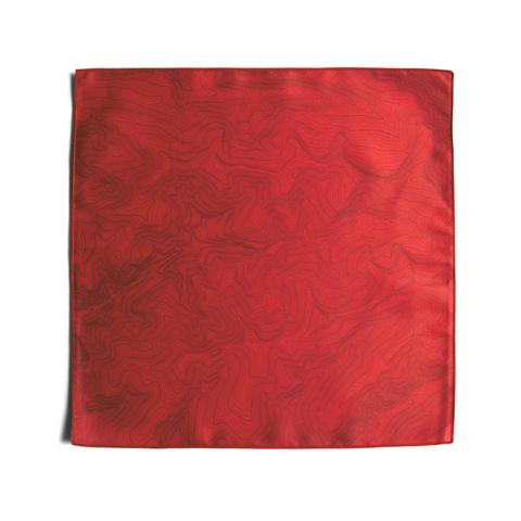 Tees - Kind Design TOPO POCKET SQUARE / POWER RED