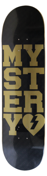 Boards - Mystery Skateboards Varsity Gold Deck 8.375""