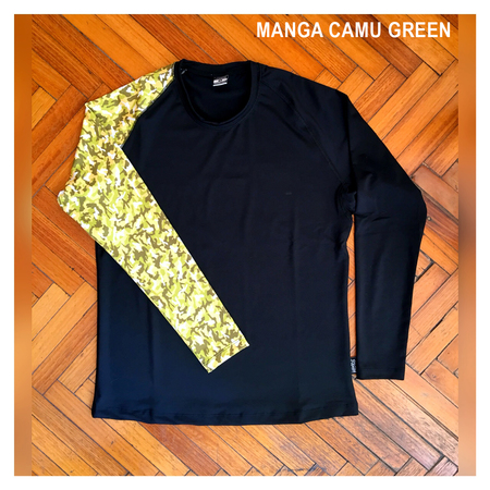 Mangas Largas - Wildass Maia Rash Guard Camu Green