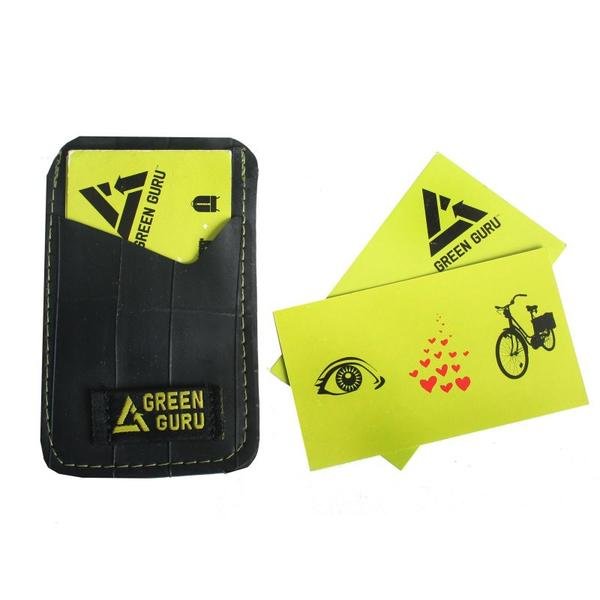 Wallets - Green Guru Gear Business Card Wallet- Recycled Bike Tube