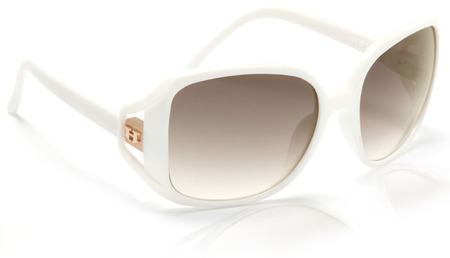 Sunglasses - Hoven Vision GLAM White / Brown Fade