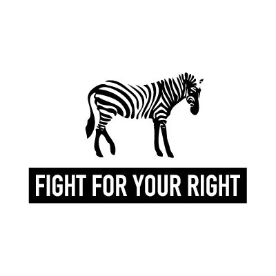 Fight For Your Right Cuello Con Piel Cuadros Fight For Your Right