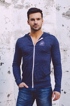 Zip Hoodies - California 89 Unisex Lightweight Hooded Zip
