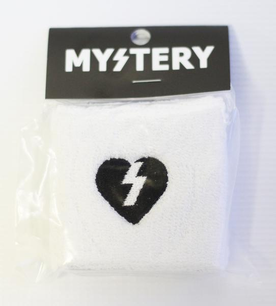 More - Mystery Skateboards MYSTERY HEART SWEAT BAND WHITE