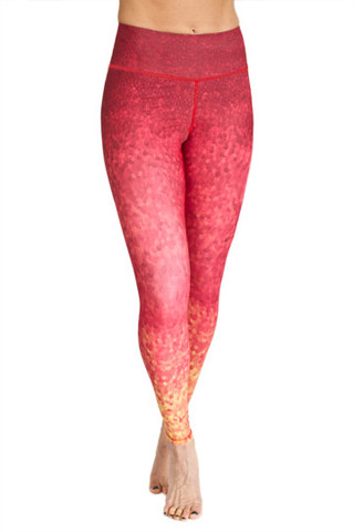Leggings - Okiino Sunset Scales Leggings
