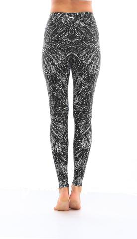 Leggings - Okiino Black Lionfish Leggings