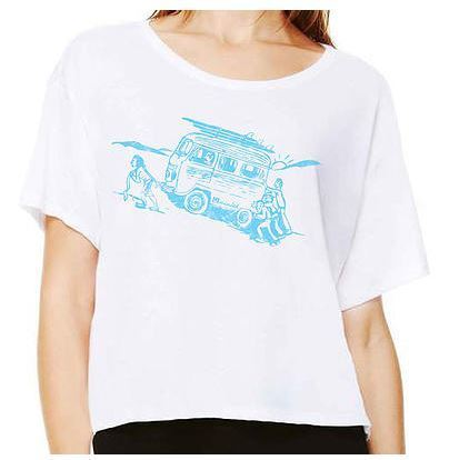 Tees - Hi Minded VW Bus Boxy Ladies Tee