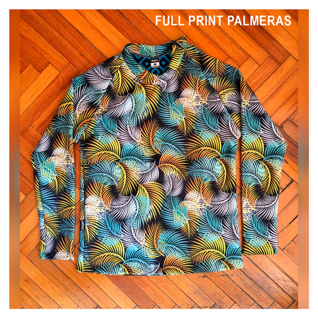 Mangas Largas - Wildass Maia Rash Guard Full Palmeras