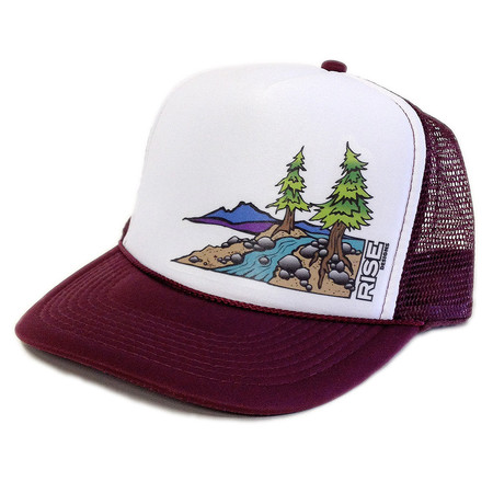 Rise Designs Truckee River Trucker Hat - Black White