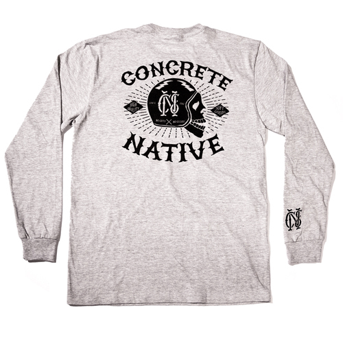 Long Sleeve - Concrete Native Death or Glory Long Sleeved Tee