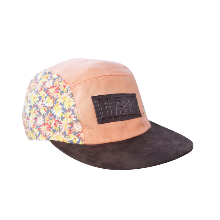 Five Panels - Niveria Gorra Pinky Flowers Brown