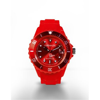 Relojes - Rubberchic Reloj Basic Red