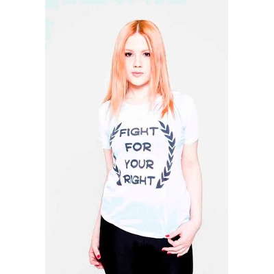 Mangas Cortas - Fight For Your Right Remera Laurel