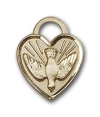 14kt Gold Confirmation Heart Medal - Engravable