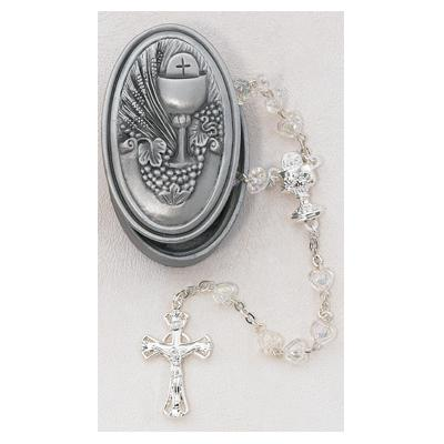 Crystal Heart Rosary Communion BOX