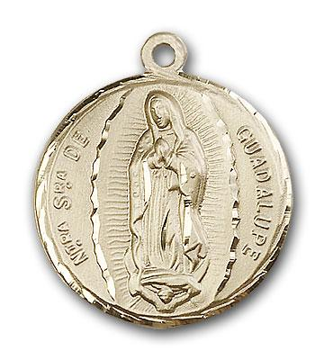 14kt Gold Our Lady of Guadalupe Medal