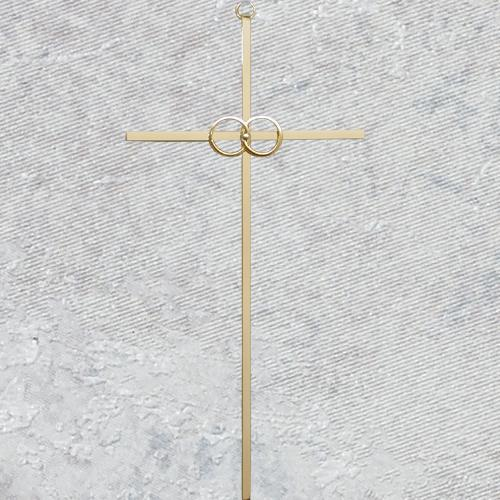 10 Inch Wedding Cross -- Gold