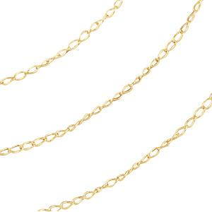 1mm Thin Curb Chain - 14K Gold