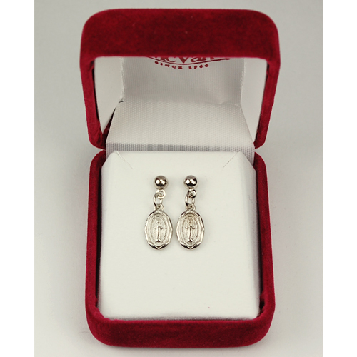 Miraculous Medal Earrings -- Dangling