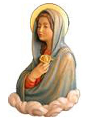 Virgin Mary with Rose Wall Carving