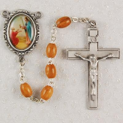 ST PETER Rosary Olive Wood