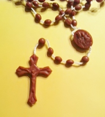 Plastic Rosary - Brown - BULK