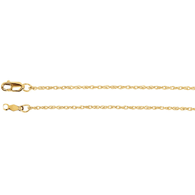 1.25 mm Lasered Titan Gold Rope Chain