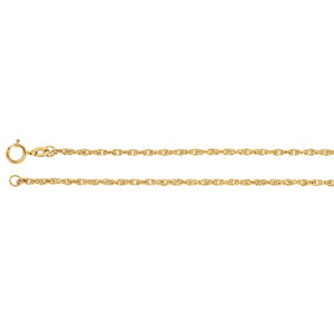 1.75 mm Rope Chain - 14K Gold