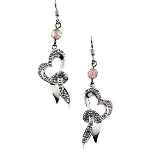 Sterling Silver Cherish Earrings with Stones - Pair