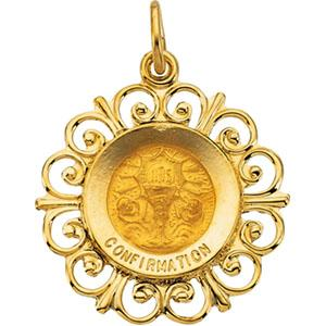14K Gold Confirmation Medal