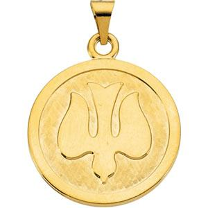 14K Gold Holy Spirit Medal