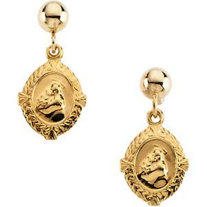 St. Anthony Ball Dangle Earring - Pair