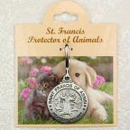 St Francis Pet Medal - Large, Engraveable