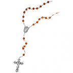Baltic Amber & Sterling Silver Rosary with Miraculous Medal Center