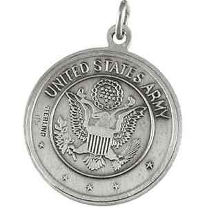 St. Christopher/Us Army Medal - Sterling Silver