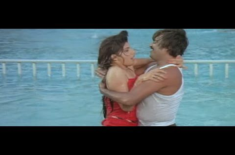 Rajinikanth in the Pool With Co Star