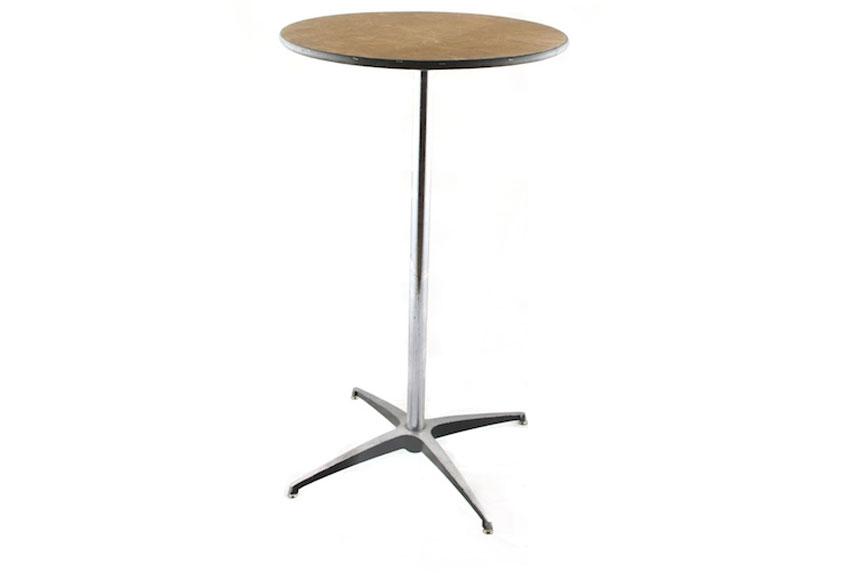 Elegant 24u2033 Round Highboy Table   24u2033 Round Highboy Table Arena Americas