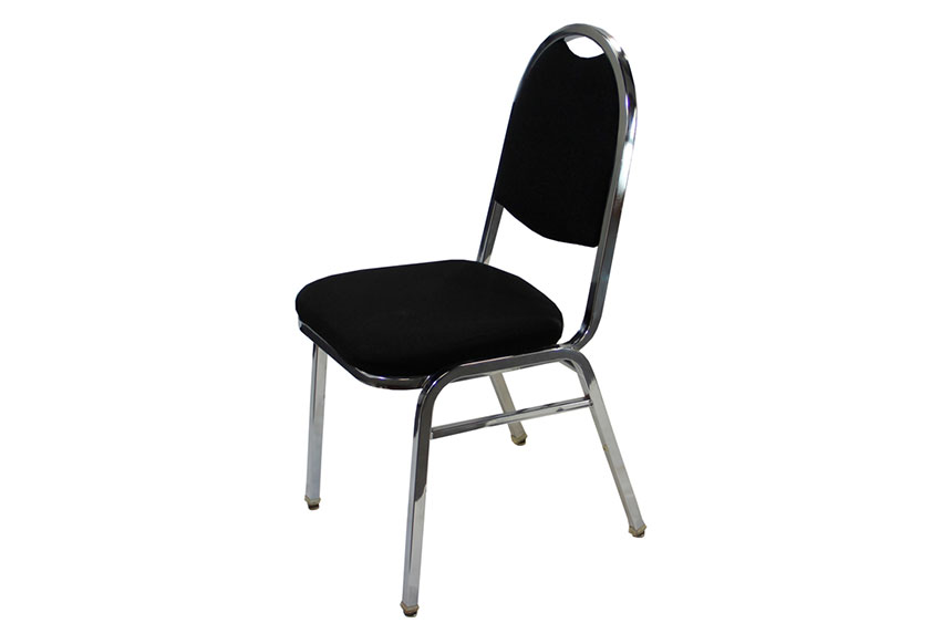 Black Stackable Chairs black stacking chair with chrome frame | arena americas