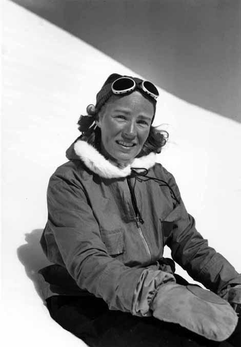 Barbara Washburn Summit of Mt. Hayes
