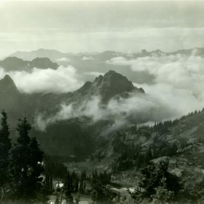 Lane Peak, Tatoosh Range, Mt. Rainier Nat. Park.