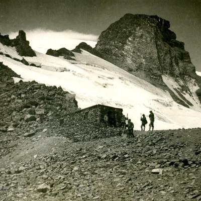 Camp Muir, Mt. Rainier. Gibralter above