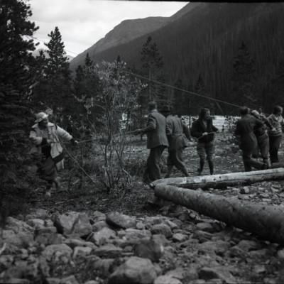 Old Film, Camp Scenes
