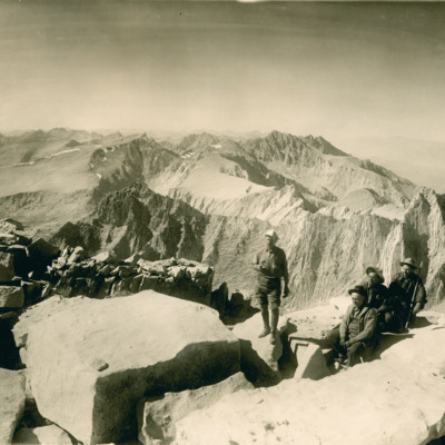 North from summit of Mt. Whitney