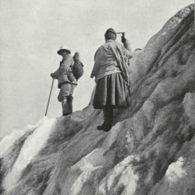 Fanny Bullock Workman on a Slope
