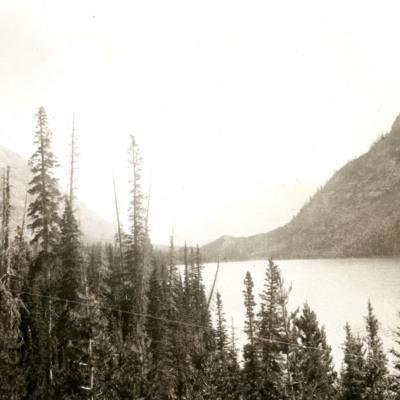 North over upper Spray Lake