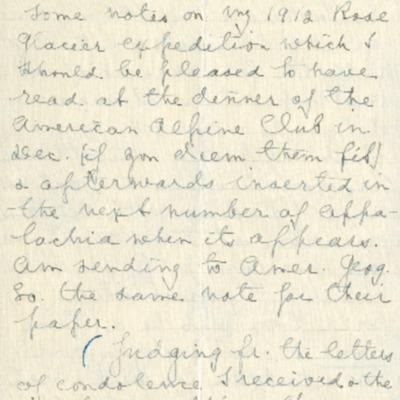 Workman Putnam Letter October 21, [1912]