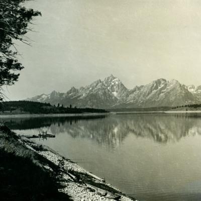 Grand Teton from Jackson Lake.