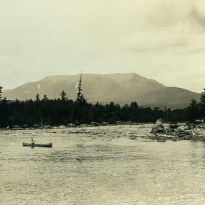 Mt. Katadin from West Branch of Penobscot.