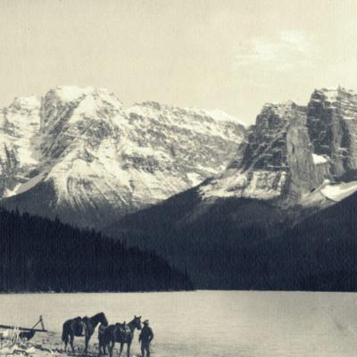 Chaba Peak from Fortune Lake.